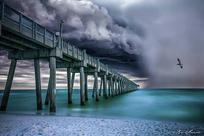 Downpour- Pensacola Beach Art Print by Brent Shavnore