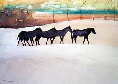 Downs Stables Art Print