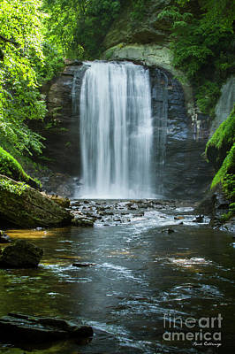 Photograph - Downstream Shade Looking Glass Falls Great Smoky Mountains Art by Reid Callaway