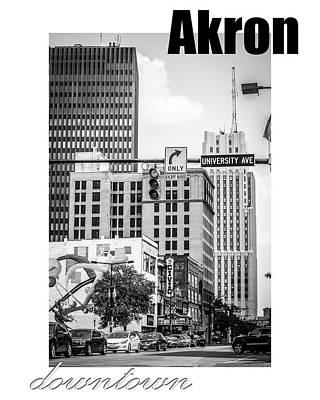 Downtown Akron Art Print
