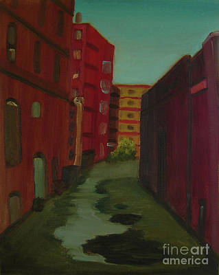 Painting - Downtown Alley-portland Maine by Lilibeth Andre