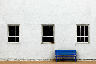 Window Bench Photograph - Downtown America by Todd Klassy