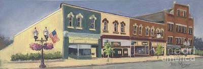 Downtown Ashland Ohio Art Print by Terri  Meyer