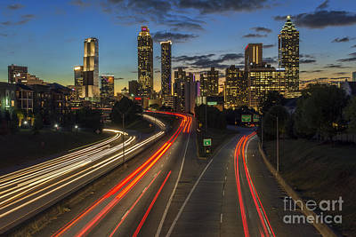 Photograph - Downtown Atlanta At Dusk by Eddie Yerkish