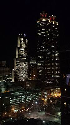 Photograph - Downtown Atlanta Lights by Kenny Glover