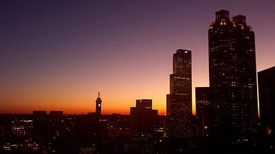 Photograph - Downtown Atlanta Sunset by Kenny Glover