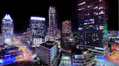Photograph - Downtown Atx by Andrew Nourse