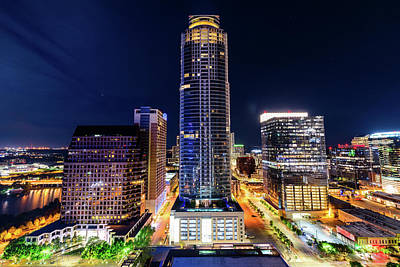 Photograph - Downtown Austin By Night by Jason Chu