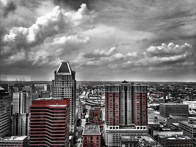 Photograph - Downtown Baltimore City by Chris Montcalmo