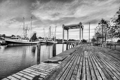 Photograph - Downtown Bayou La Batre Black And White by JC Findley