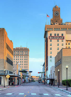 Photograph - Downtown Beaumont Texas by JC Findley