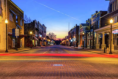 Photograph - Downtown Bentonville Arkansas Skyline by Gregory Ballos