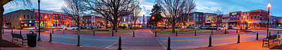 Photograph - Downtown Bentonville Arkansas Town Square Skyline Panoramic  by Gregory Ballos