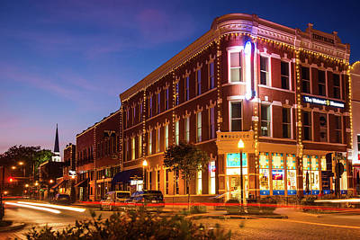 Photograph - Downtown Bentonville Evening Skyline by Gregory Ballos