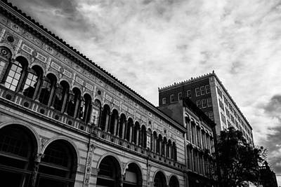 Downtown Birmingham In Monochrome Art Print by Shelby  Young