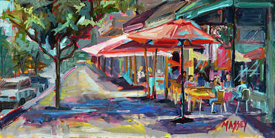 Painting - Downtown Bistro by Marie Massey