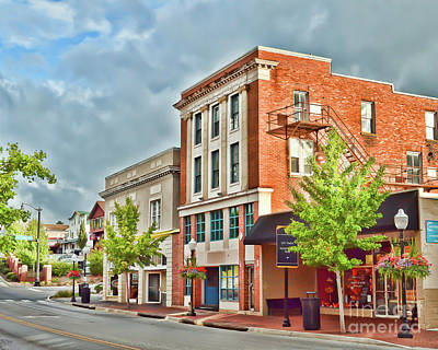 Photograph - Downtown Blacksburg Buildings by Kerri Farley