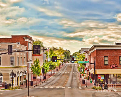 Downtown Blacksburg Art Print