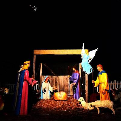 Photograph - Downtown Breckenridge Nativity by Chris Brown