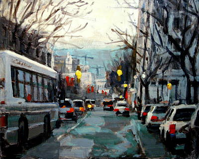 Traffic Painting - Downtown by Brian Simons