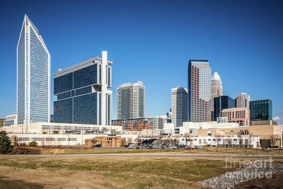 Charlotte Photograph - Downtown Charlotte Skyline Skyscrapers by Paul Velgos
