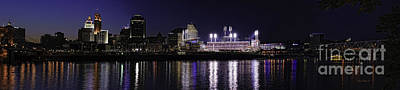 Abstract Stripe Patterns Rights Managed Images - Downtown Cincinnati and Great American Ballpark Panorama Royalty-Free Image by Anne Kitzman