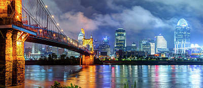 Photograph - Downtown Cincinnati Skyline In Color by Gregory Ballos