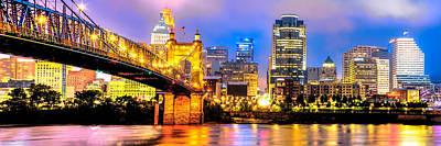 Cincinnati Photograph - Downtown Cincinnati Skyline Panoramic by Gregory Ballos