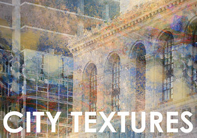 Mixed Media - Downtown City Textures by John Fish