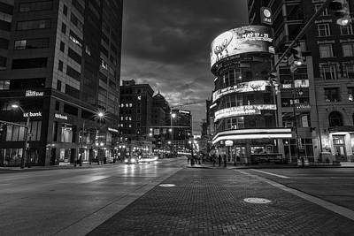 Photograph - Downtown Cloumbus Ohio Black And White  by John McGraw