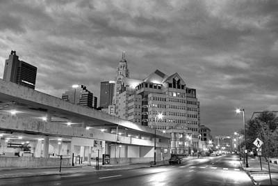 Downtown Columbus Bw5145 Art Print by Brian Gryphon