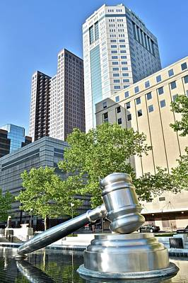 Photograph - Downtown Columbus Gavel by Frozen in Time Fine Art Photography