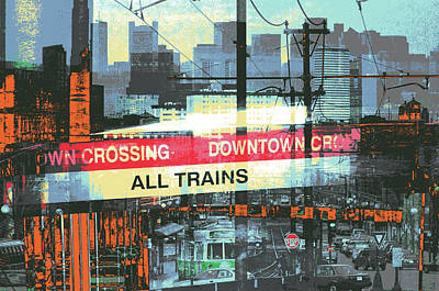 Mixed Media - Downtown Crossing by Shay Culligan