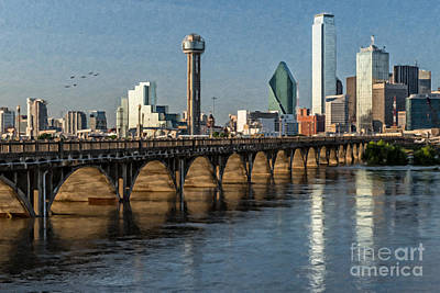 Photograph - Downtown Dallas Bridge by Tamyra Ayles
