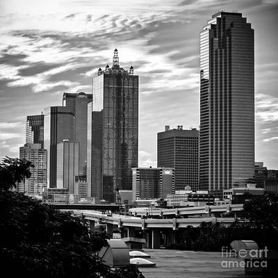 Photograph - Downtown Dallas In Bw by Imagery by Charly