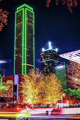 Thomas Kinkade - Downtown Dallas Skyline Towers by Gregory Ballos
