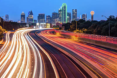 Photograph - Downtown Dallas Texas City Skyline At Dawn by Gregory Ballos