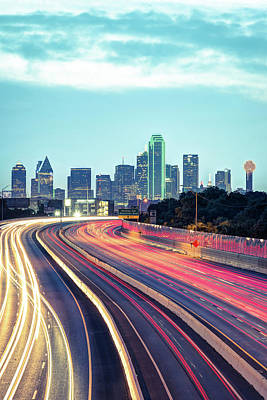 Photograph - Downtown Dallas Texas Skyline Drive by Gregory Ballos
