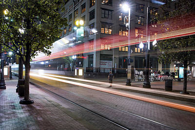 Photograph - Downtown Dallas Train 080318 by Rospotte Photography