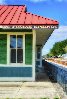 Red Roof Photograph - Downtown De Funiak Springs # 3 by Mel Steinhauer
