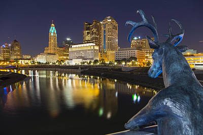 Photograph - Downtown Deer View Columbus by Alan Raasch