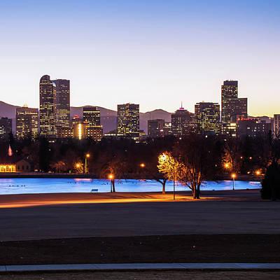 Photograph - Downtown Denver Colorado Skyline Color 1x1  by Gregory Ballos