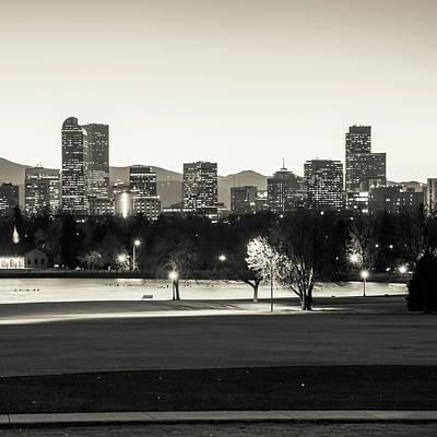 Photograph - Downtown Denver Colorado Skyline Sepia 1x1  by Gregory Ballos
