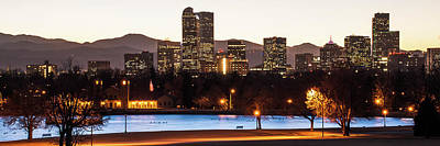 Denver Skyline Photograph - Downtown Denver Skyline Panorama - Colorado - Usa by Gregory Ballos