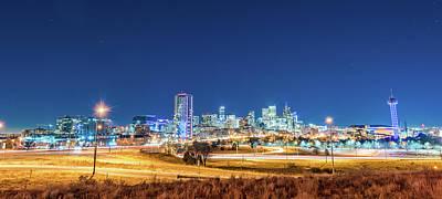 Photograph - Downtown Denver Under The Stars by Greg Wyatt