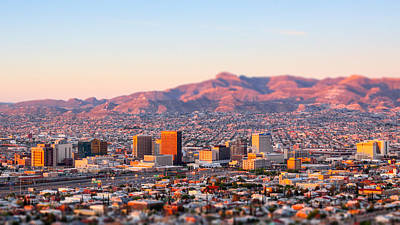 Photograph - Downtown El Paso Sunrise by Steven Green