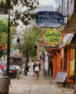 Boone Painting - Downtown by Elizabeth Coats