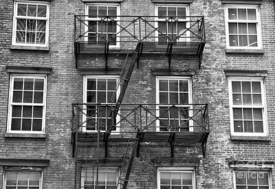 Photograph - Downtown Fire Escape by John Rizzuto