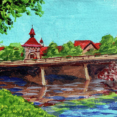 Michigan Frankenmuth Painting - Downtown Frankenmuth Michigan Impressionistic Landscape Xxiv by Irina Sztukowski