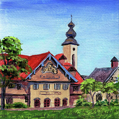 Michigan Frankenmuth Painting - Downtown Frankenmuth Michigan Impressionistic Landscape Xxix by Irina Sztukowski
